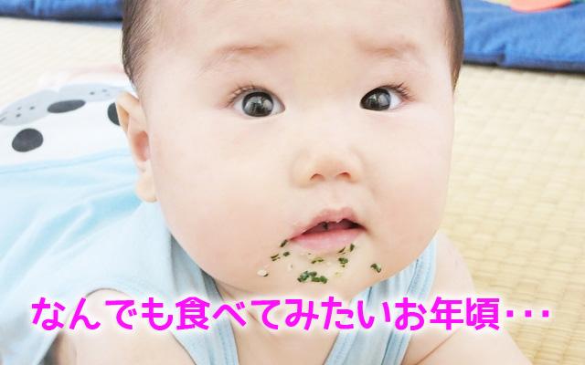 赤ちゃんがにんにくを食べる