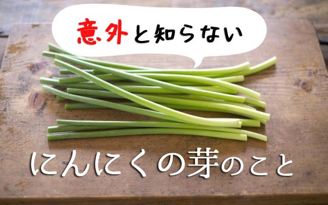 にんにくの芽の豆知識